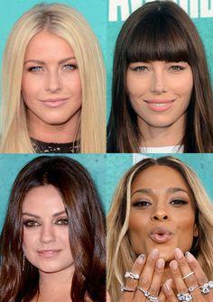 Confira os makes das celebridades que compareceram ao MTV Movie Awards 2012.