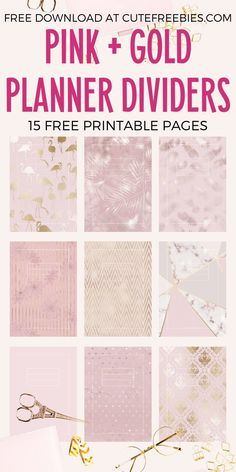 Free Printable Pink And Gold Planner Printable Divider Templates - 12 binder covers, blush pink or rose gold planner printables Printable Binder Covers Free, Binder Cover Templates, Planner Template, Free Printables, Schedule Templates, Printable Templates, Teacher Planner Free, Student Planner Printable, Free Planner
