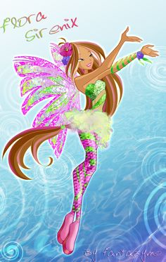 Winx club 5 season Flora Sirenix by fantazyme.deviantart.com on @deviantART