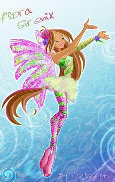 Winx club 5 season Flora Sirenix by fantazyme.deviantart.com on @deviantART