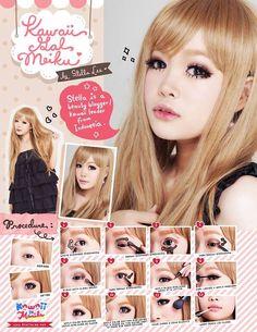 Gyaru Makeup, Asian Makeup, Beauty Makeup, Diy Beauty, Korean Makeup, Korean Skincare, Lolita Make-up, Mode Lolita, Highlighter Makeup