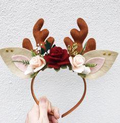 Your place to buy and sell all things handmade Antler Headband, Felt Headband, Cute Headbands, Christmas Candles, Christmas Wreaths, Christmas Crafts, Christmas Decorations, Advent Wreaths, Christmas Headbands
