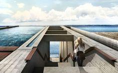 A Casa Brutale é um projeto do escritório holandês OPA, a ser concebido nas elevações rochosas da Grécia, com previsão de entrega em 2018. Seu teto é uma piscina de borda infinita.