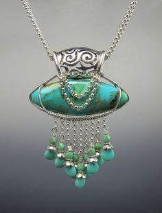 Royal Turquoise Wire Wrap Pendant