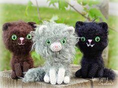 Smartapple Creations - amigurumi and crochet: Free crochet pattern - Tiny Fuzzy Halloween Kitten