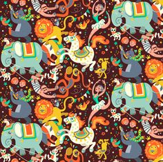 Circus Parade fabric by irrimiri on Spoonflower