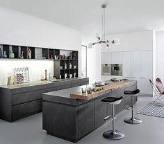 Cocina Concrete, de Leicht