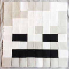 (7) Name: 'Quilting : Minecraft Quilt Block - Skeleton