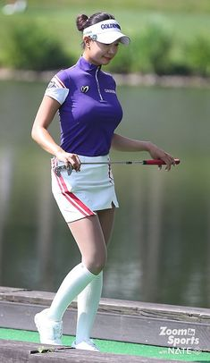 Girls Golf, Ladies Golf, Tennis Fashion, Sport Fashion, Cute Golf Outfit, Sexy Golf, Female Volleyball Players, Golf Player, School Girl Outfit