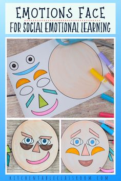 art therapy projects printables Use this free printable emotions face to start conversation about feelings and sharpen your childs social emotional intelligence. Social Emotional Activities, Feelings Activities, Preschool Learning Activities, Preschool Activities, Kids Learning, Kids Printable Activities, Indoor Activities, Summer Activities, Emotions Preschool
