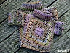квадратики в детском свитерочке