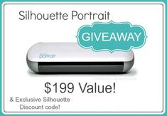 Silhouette Portrait GIVEAWAY + Designer Software Discount with code: CRAFT http://www.craftaholicsanonymous.net/silhouette-portrait-giveaway-designer-software-discount