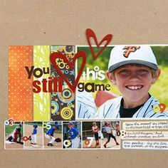 baseball scrapbook layouts | Baseball