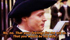 John Davinier overcome when he realizes Dido loves him too!