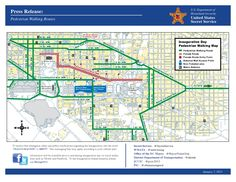Here is a map of the best pedestrian walking routes for the Presidential Inauguration on January 21. For more information visit http://inauguration.dc.gov