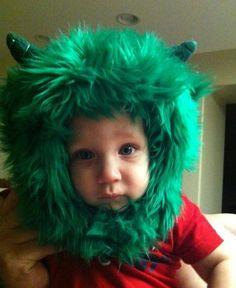 Little Monster Baby Hat Baby Halloween Costumes, Halloween Fun, Crochet Character Hats, From Rags To Riches, Monster Hat, Cute Hats, Little Monsters, Kids Hats, Cool Baby Stuff