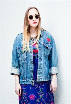 a072f558db2 Vintage 60s strawberry denim jacket by Levis from Mint Vintage £52 Levis