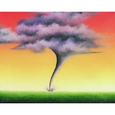 Tornado Art Print, Surreal Storm Print, Stormy Landscape Wall Decor,... ($10) ❤ liked on Polyvore featuring home, home decor, wall art, beach wall art, abstract painting, matte painting, miniature painting and music wall art