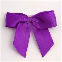 Purple Satin Bows.