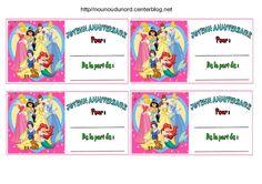 Anniversaire :  Etiquettes invitations Princesses pour anniversaire http://nounoudunord.centerblog.net/4259-etiquettes-invitations-princesses-pour-anniversaire
