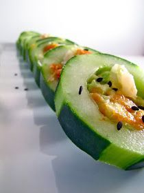 ChowGals: {SkinnyChow} Spicy Tuna & Shrimp, Smoked Salmon, Avocado Cucumber Sushi