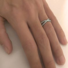 Ordering our wedding bands next month. Here is mine, diamond infinity band. I won't want to wait until October to wear it.