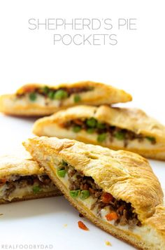 Shepherd's Pie Pocket by Real Food by Dad - My boys would LOVE this.  Made w/ a gluten-free pocket, of course!