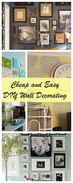 Creative, budget-friendly ideas to decorate a blank wall. LOVE these ...