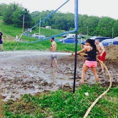 #volleyball #court #preparation #mud