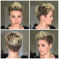 40 Best Short Curly Hairstyles for Women Short Hairstyles & Haircuts 2017 Short Curly Hairstyles For Women, Curly Hair Styles, Short Pixie Haircuts, Hairstyles Haircuts, Cool Hairstyles, Short Undercut Hairstyles, Short Pixie Cuts, Pixie Mohawk, Messy Pixie Haircut