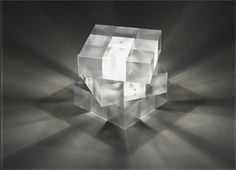Rubik's Cube Light Lamp is a great Fun Gadget variation on the Rubik's Cube Toy. Besides the Rubik's Cube colorful patterns, it shines wonderful and colorful light for additional utility. Light Art, Lamp Design, Lighting Design, Cube Design, Light Project, Light Fixtures, Glass Art, At Least, Lights