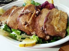 Recetas para filetes de lomo - Polpa di suino infarinata al limone - Pork loin recipes italian food, italian recipe, cocina italiana, comida italiana