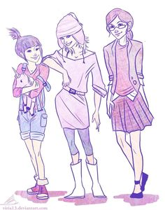 Despicable me characters as teens?  http://viria13.deviantart.com/art/Anges-Edith-and-Margo-203842878