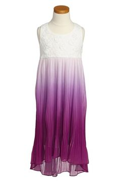 Truly Me Ombré Chiffon High/Low Dress (Big Girls) available at #Nordstrom