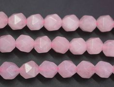 Faceted Rose Crystal Quartz Beads, Natural and Faceted Rose Crystal Quartz Beads,6mm 8 mm 10mm 12mm beads, 15 inch strands
