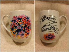 #mug #mugillustration #impressionisme #flowers #bonjour #breakfast #colazione #colors #drawing #handmade