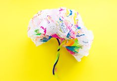 hello, Wonderful - HOW TO MAKE SPIN ART DOILY PAPER FLOWERS