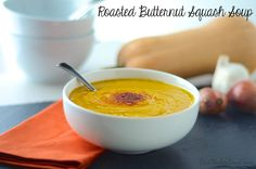Roasted Butternut Squash Soup!! #Vegan, creamy and delicious!!