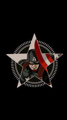 Marvel Comics Superheroes, Marvel Art, Marvel Heroes, Marvel Movies, Marvel Avengers, Capitan America Marvel, Captain America Logo, Capitan America Wallpaper, Amoled Wallpapers