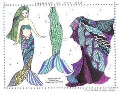 mermaid paper dolls - Google Search
