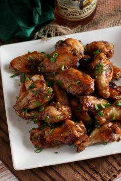 Sticky-Sweet Caribbean Wings #CaptainsTable | www.girlichef.com