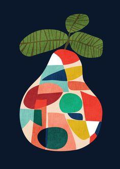 Fresh Pear Art Print