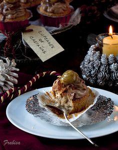 La cocina de Frabisa: Cupcakes de castañas y crema de chocolate de orujo