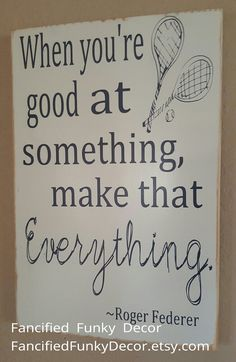 Tennis Decor Tennis Sign Roger Federer by FancifiedFunkyDecor Tennis Party, Tennis Gifts, Sport Tennis, Play Tennis, Tennis Bag, Tennis Clothes, Roger Federer Quotes, Tennis Decorations, Table Decorations