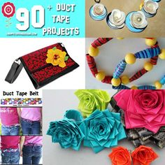 Linda Peterson: CRAFTS { DIY: JEWELRY: HANDMADE HOME} Creative LIFE: CRAFT TREND - 90+ DUCT TAPE CRAFTS IDEAS FOR YOU TO MAKE