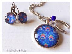 Blue Peacock Set Peacock Blue, Perfect Match, Pendant Necklace, Jewellery, Bracelets, Collection, Fashion, Bangle Bracelets, Moda