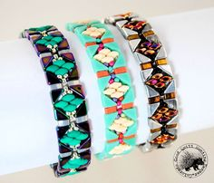 Learn to weave this quick and simple bracelet highlighting the new Tango Beads…