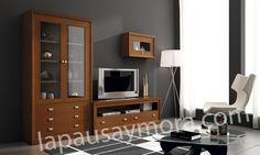 Mueble de comedor de Lapausa y Mora, colección Lore. Camposición 05 con acabado en Cerezo 50.