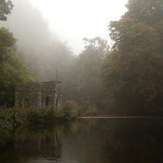 Avalon?  Marshy lands here often shrouded in mist -  certainly a contender...