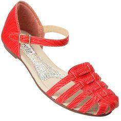Sandália Rasteira Coral no site www.ShopShoes.com.br